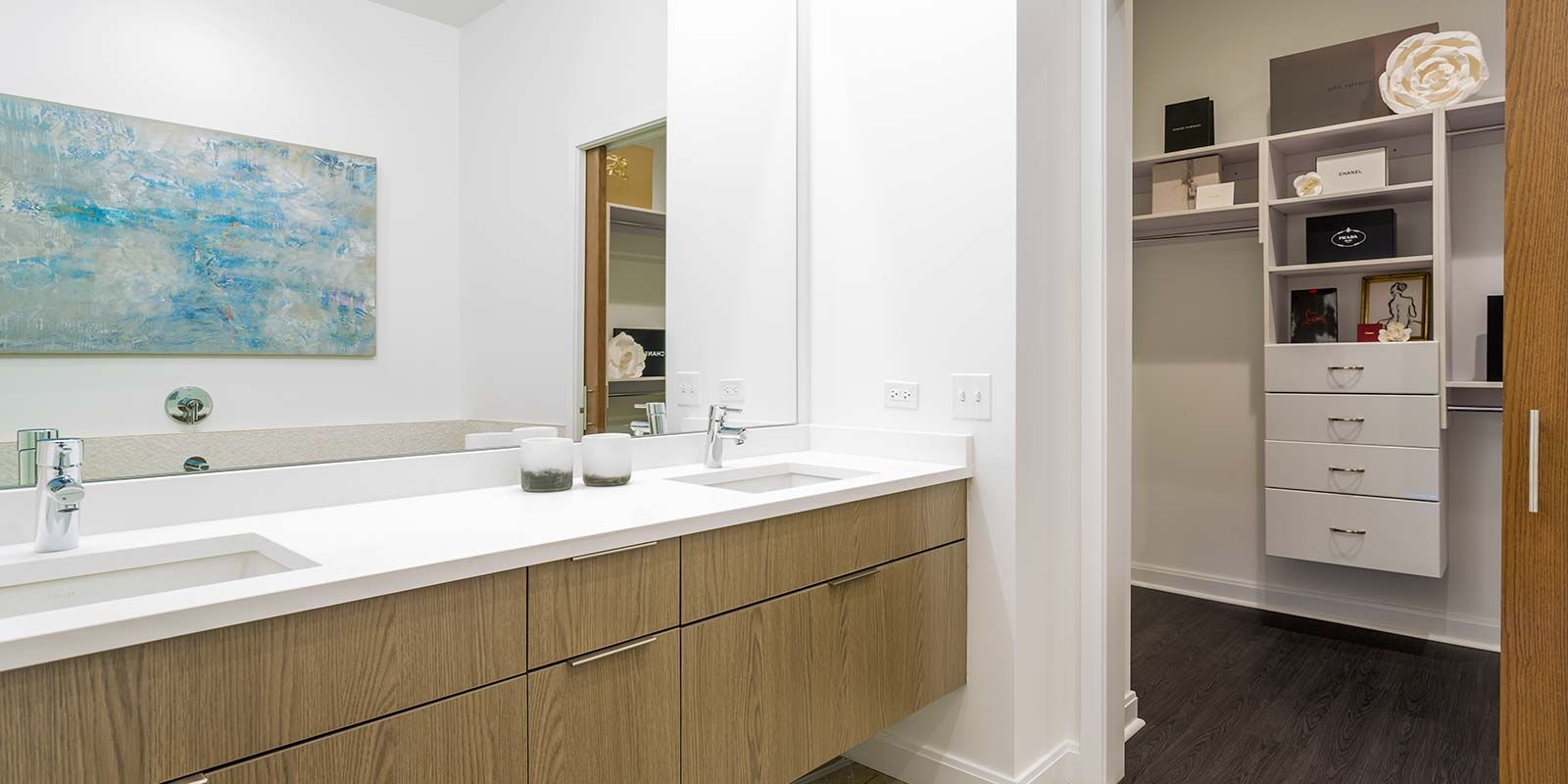 Elevate Lincoln Park Dual Vanity Master Bathroom