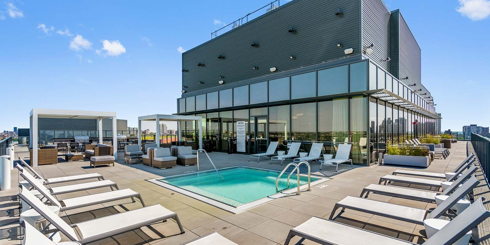 Elevate Lincoln Park Pool Roof Deck and Cabanas