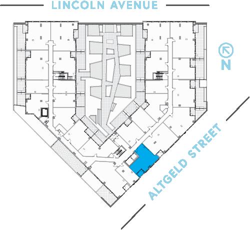 Location of unit on floor