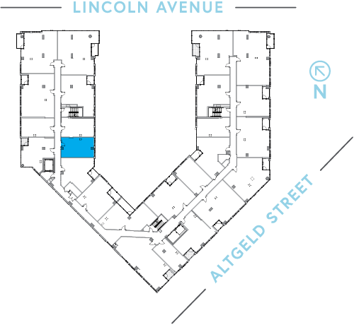 Location of unit on floor