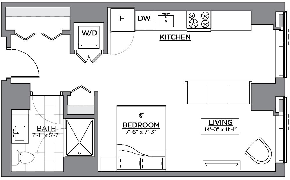 Floor plan of unit