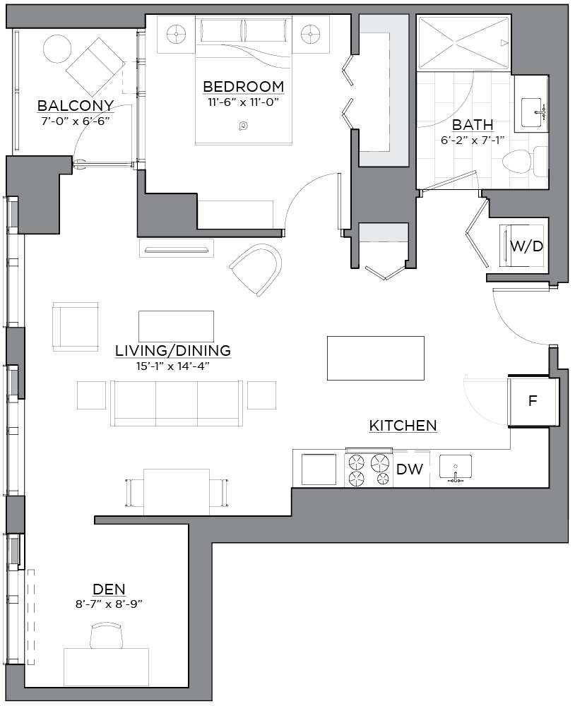 Floor plan of unit